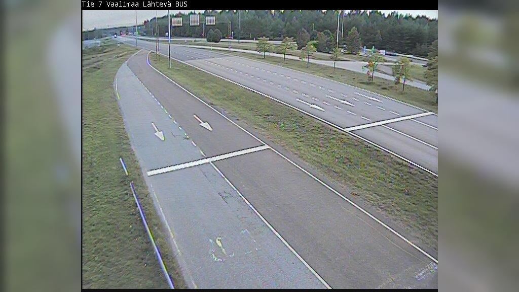 Webkamera Virolahden Kirkonkylä: Tie 7 raja asema 4 − itään