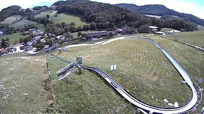 Daylight webcam view from Langenbruck: Deinkick Solarbob Seilpark