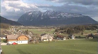 Vista actual o última desde Obersdorf: Bad Mitterndorf mit Grimming