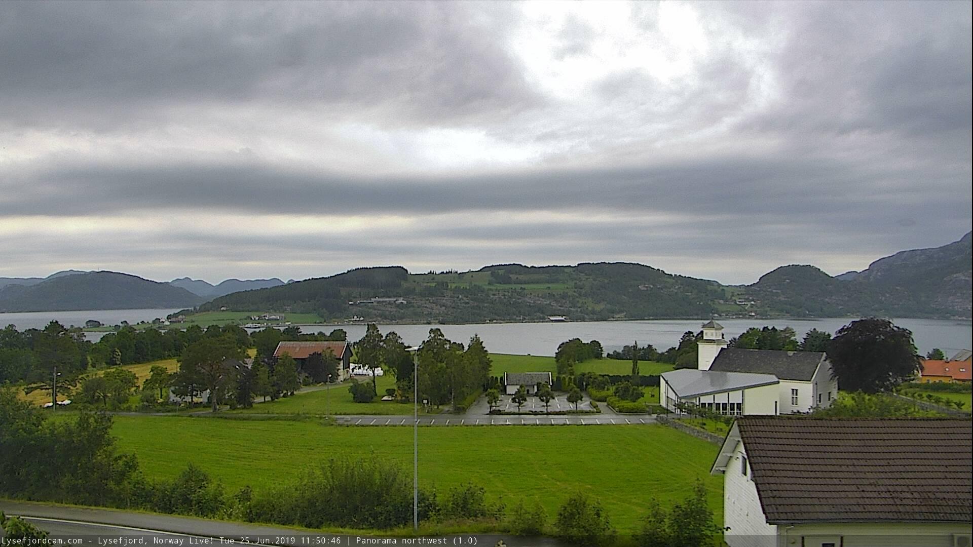 Webkamera Lysefjorden › North-West: Panorama northwest