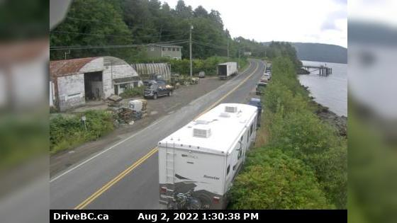 Webkamera Skidegate › North: Hwy 16 at the ferry terminal on