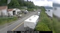 Queen Charlotte › North: Hwy  at the ferry terminal on Haida Gwaii, looking north - Dagtid