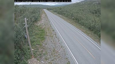 Daylight webcam view from Kilpisjärvi: E Øvre Helligskogen (Retning Skibotn)