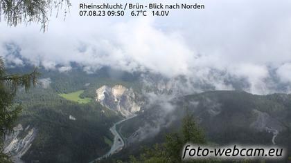 Safiental: Rheinschlucht - Brün - Blick nach Norden