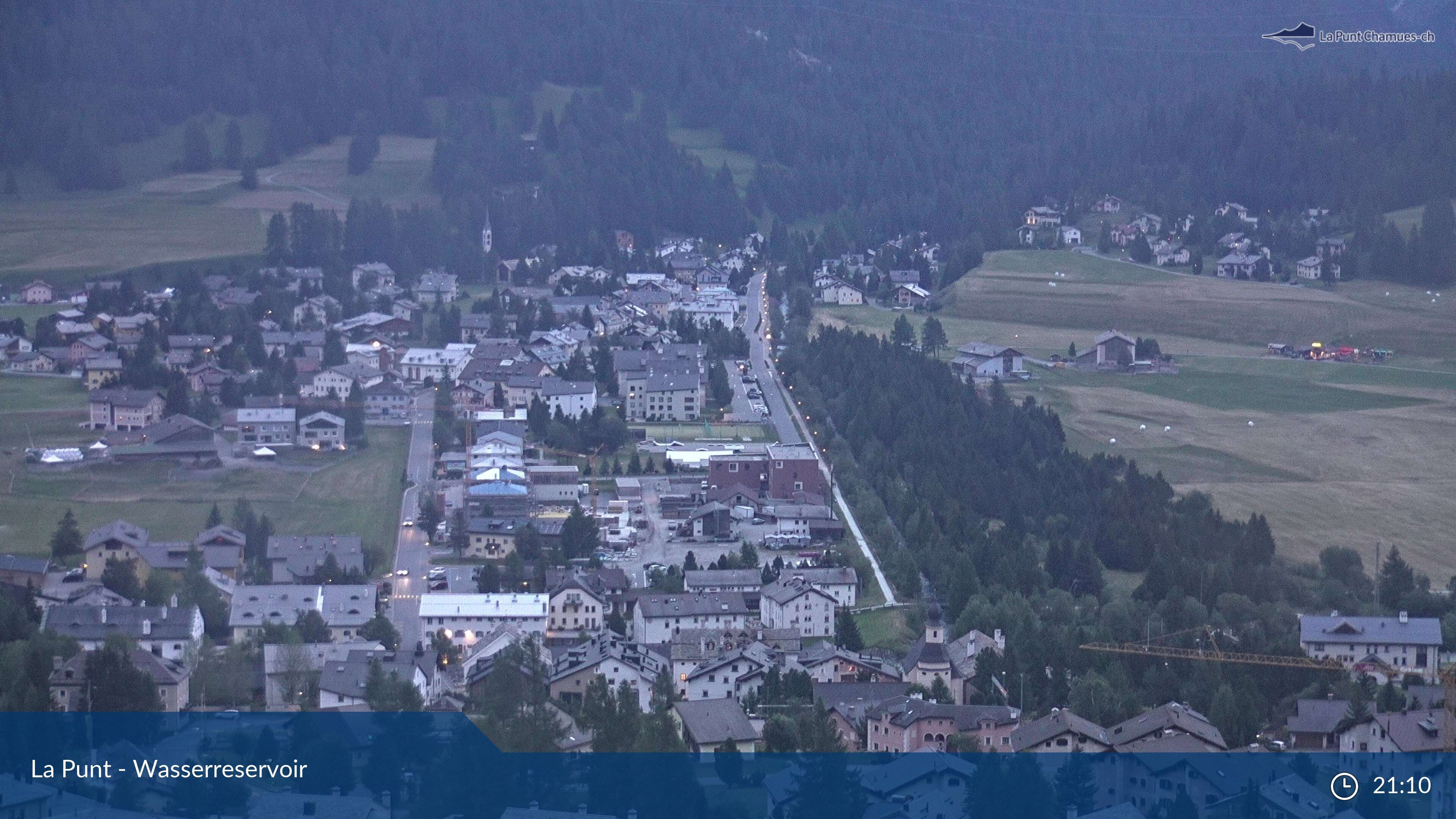 La Punt: Wasserreservoir - Sportplatz