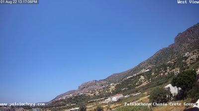 Daylight webcam view from Paleochora: Παλαιοχωρα ανατολικα − Palaiochora Chania