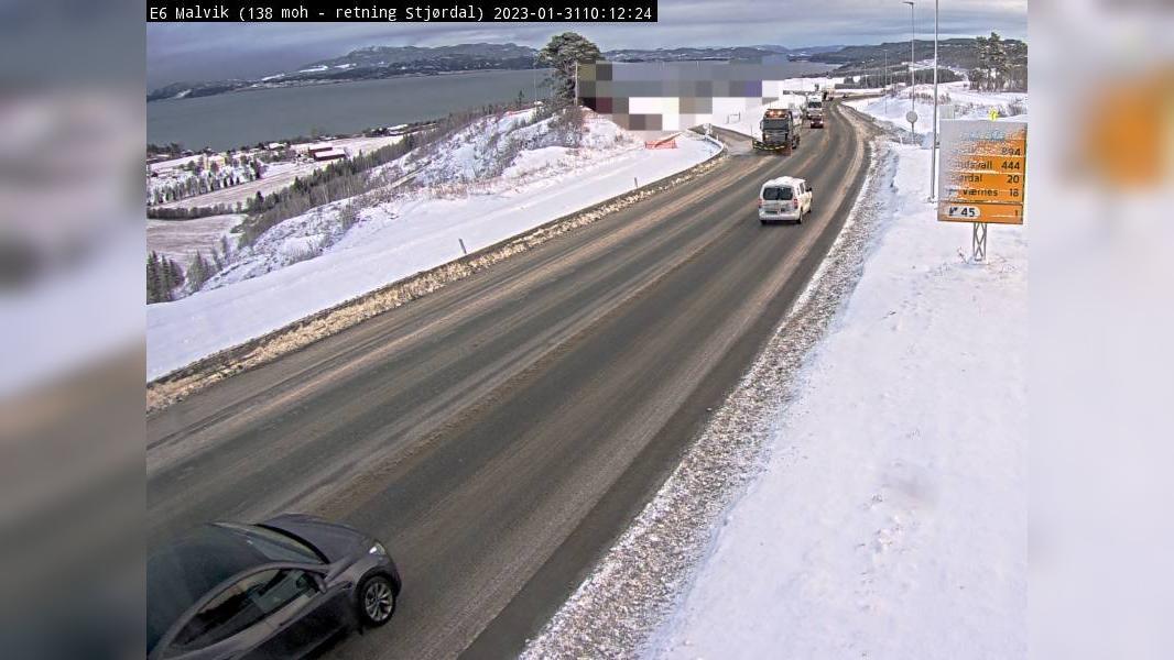 Webkamera Malvik: E6 − 18 km fra Værnes