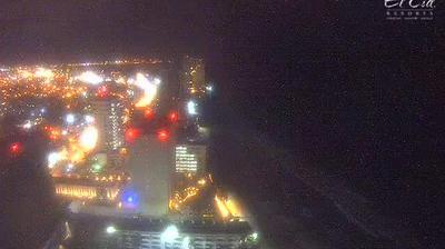 Vue actuelle ou dernière à partir de Mazatlán: Panoramic view of