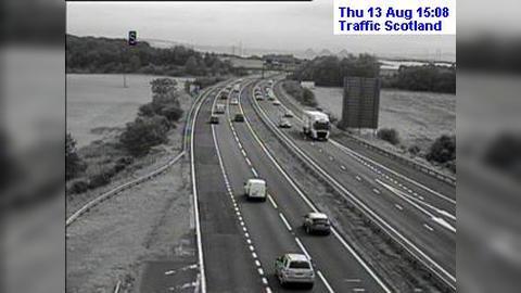 Webcam Rosyth: M90 Calais Muir live traffic camera near D