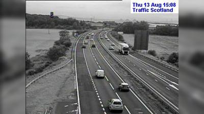 Burntisland: M Calais Muir live traffic camera near Dunfermline in Fife