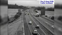 Burntisland: M Calais Muir live traffic camera near Dunfermline in Fife - Actual