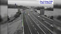 Burntisland: M Calais Muir live traffic camera near Dunfermline in Fife - Day time
