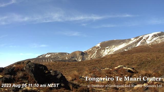 Webcam Otukou: Tongariro volcano, Te Maari Crater