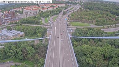 Webcam Färjenäs: Älvsborgsbron Södra söderut