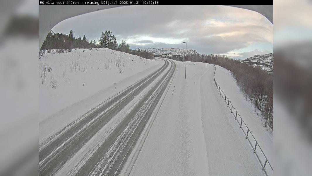 Webcam Kvænvika: E6 Alta vest (Retning sør)