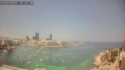 Daylight webcam view from Malta: Sliema