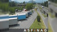 Hohenems: A, bei Raststation - Blickrichtung LKW-Stellplatz - Km , - Overdag