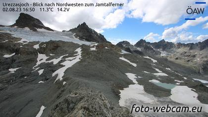 Scuol: Urezzasjoch - Blick nach Nordwesten zum Jamtalferner