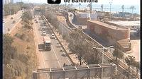 Barcelona: Ronda Litoral at Badajoz St. (Looking to South-West) - Actuales