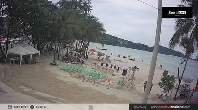 Vista de cámara web de luz diurna desde Patong Beach