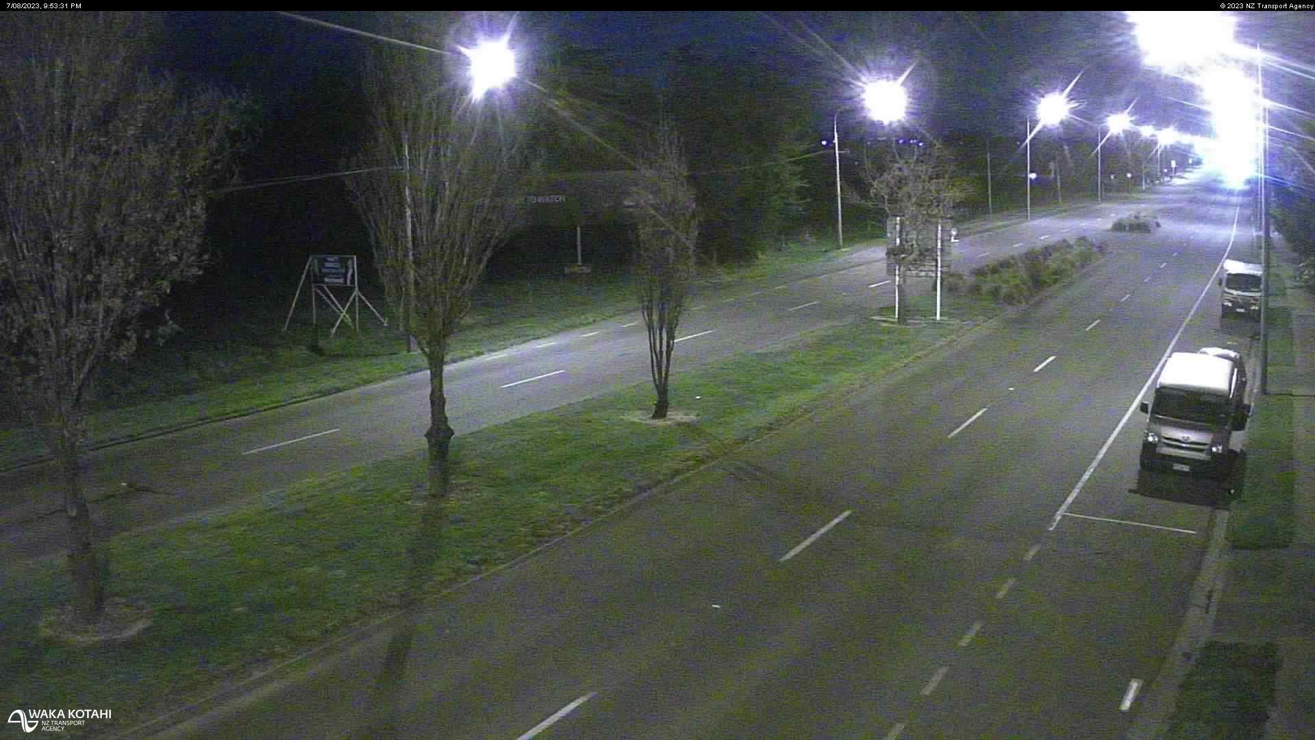 Webkamera Chaneys › South: SH1 − South, Christchurch