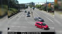 Saanich > West: , Hwy  northbound at - Rd, looking west - Dia