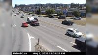 Lantzville › East: Hwy , at Aulds Rd in Nanaimo, looking east - Overdag