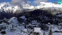 Dernière vue de jour à partir de Kamnik: Velika Planina webcam