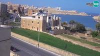 Kalkara: Rinella - webcam - entrance to the Grand Harbour, Valletta - Overdag