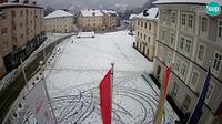 Dernière vue de jour à partir de Idrija: Mestni trg (house of painter Jurij Tavčar)