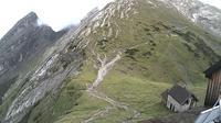 Berchtesgaden: Watzmannhaus - Blick auf Watzmannfrau und Hocheckaufstieg - El día