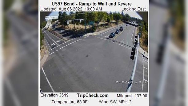 Webcam Bend: US97 − Ramp to Wall and Revere
