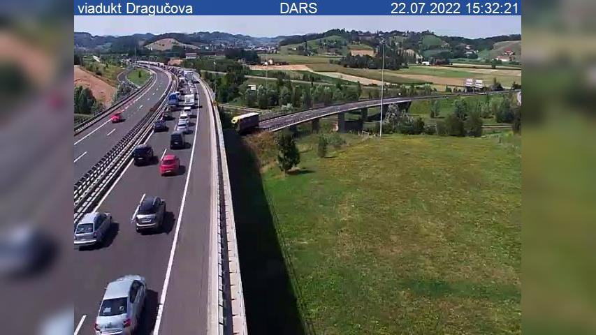 Webcam Dragučova: A1, Maribor − vzhodna obvoznica, viaduk