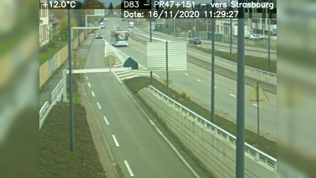 Webcam Colmar › North: D83 − direction Strasbourg