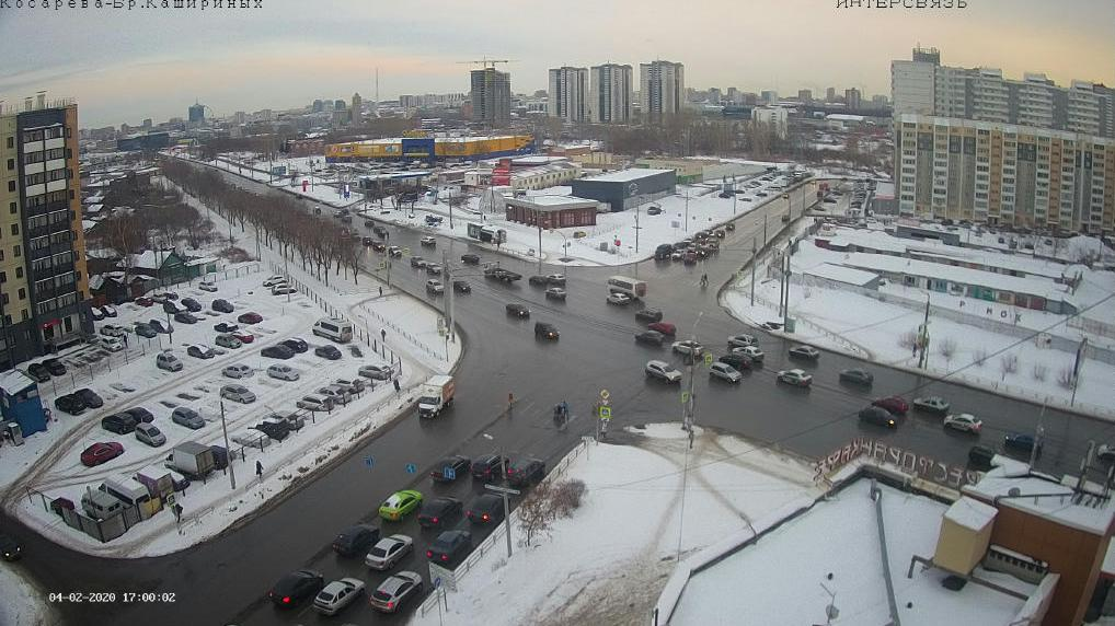 Webcam Chelyabinsk › South-East: ulitsa Kosareva − ulitsa