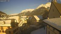 Sent > East: avant baselgia - Vom Turm Ferienwohung Alpenloft richtung Kirche in - Day time