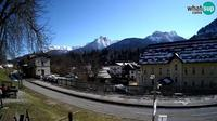 Tarvisio: webcam - Bicycle lane and Mangart mountain - Day time