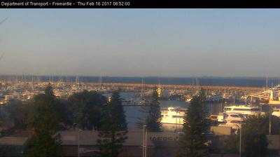 Daylight webcam view from Fremantle: Fishing Boat Harbour