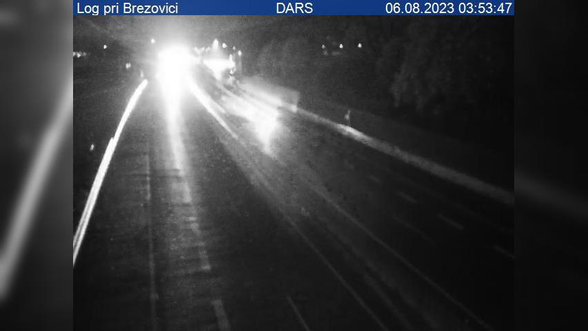 Webkamera Log pri Brezovice: A1/E61/E70, Ljubljana − Koper,