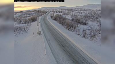 Daylight webcam view from Kilpisjärvi: E8 Galgo (509 moh)