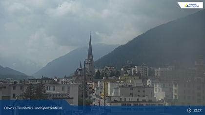 Davos: Platz - Tourismus- und Sportzentrum, Kirche/Tinzenhorn