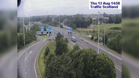 Webkamera Hamilton: Live M74 traffic weather camera at the M
