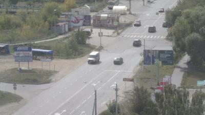 Tageslicht webcam ansicht von Машгородок: ул. Олимпийская − пр. Макеева