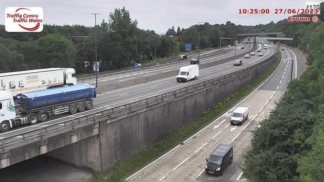 Webkamera Langstone: M4 eastbound at junction 24 (Coldra)