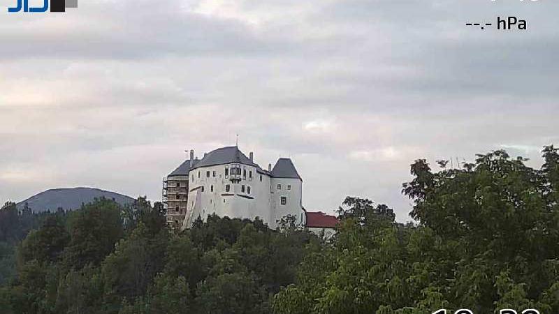 Webkamera Slovenská Ľupča › North-East: Ľupčiansky hrad