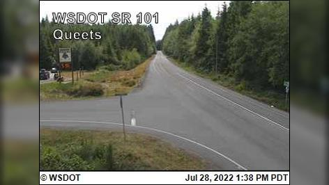 Webcam Queets: on SR 101 @ MP 151.7