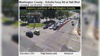 Beaverton: Washington County - Scholls Ferry Rd at Hall Blvd - Day time