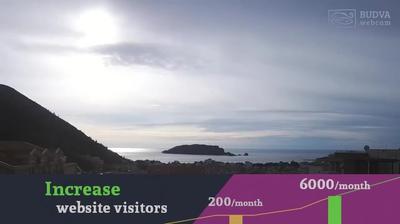 Vista actual o última desde Lazi › West: Sveti Nikola Island
