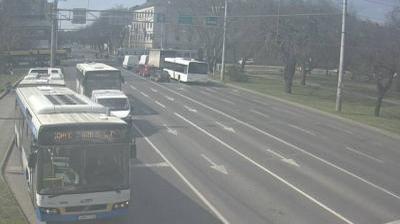 Daylight webcam view from Debrecen: Petőfi tér