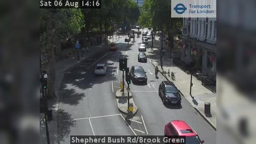 Webcam Acton: Shepherd Bush Rd/Brook Green